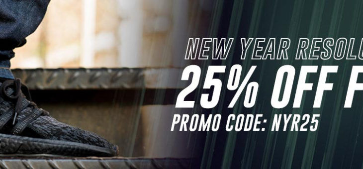 New Year Resolution Sale: 25% off select footwear