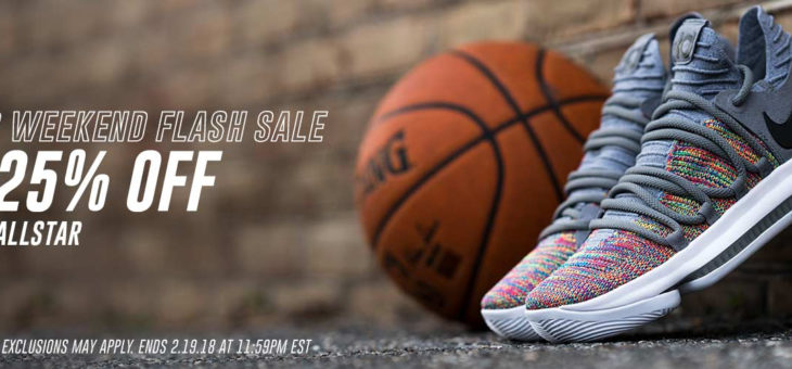 25% off All Star Weekend Flash Sale