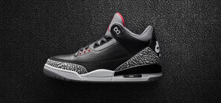 """Jordan Retro 3 OG """"Black Cement"""" Release Links"""