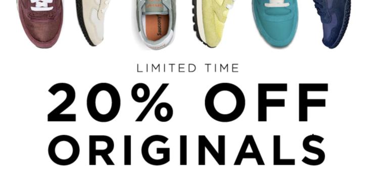 20% off Saucony Originals