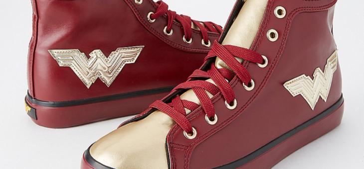 Wonder Woman Metallic Hi-Top Sneakers on sale for $39.99