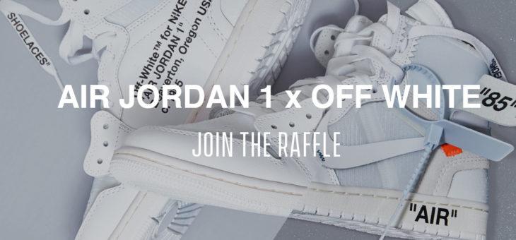 Jordan x OFF WHITE Retro 1 NRG White Raffles