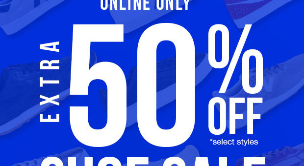 EXTRA 50% off Shoes + Free Shipping – Flash Sale