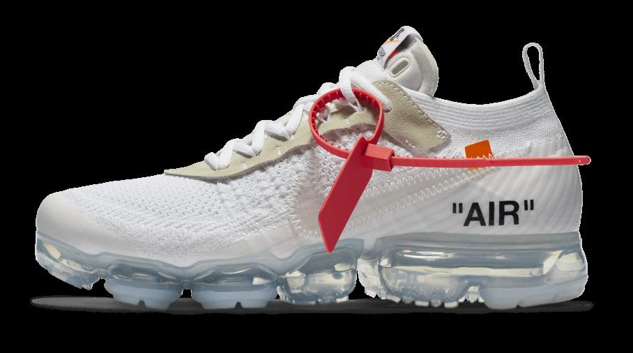 oficjalny dostawca niesamowity wybór szczegółowe obrazy Off White x Nike Air VaporMax Flyknit White Raffles - Cop ...