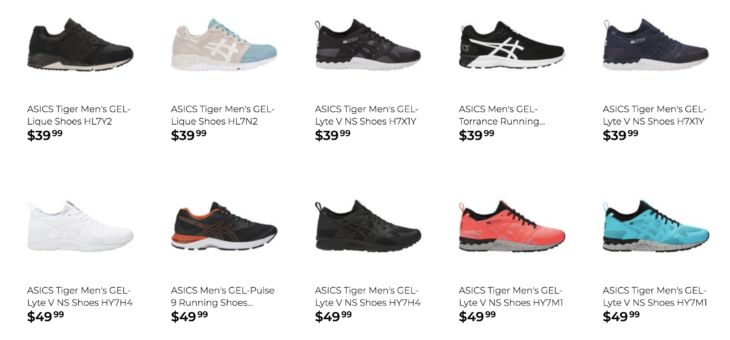 EXTRA 20% off ASICS – Starting at just $24 with Free Shipping