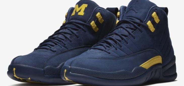 Jordan Retro 12 Michigan PE Release
