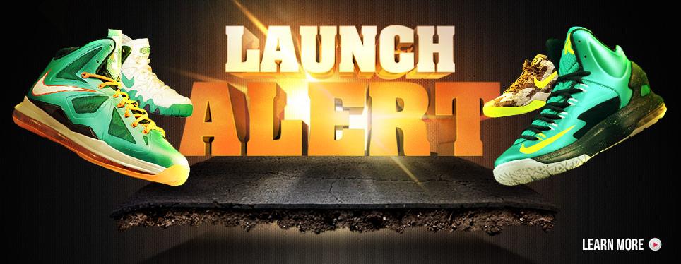 3/9 LeBron Dolphins KD V Gamma Ray Launch