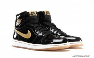 Air Jordan Retro 1 OG Black Metallic Gold 2013