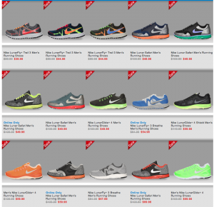 Finishline Lunar Nike + Running Shoes On Sale $39