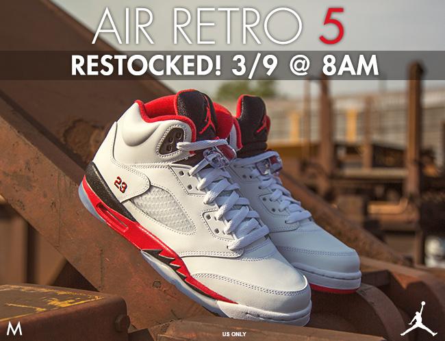 Jordan Retro 5 March Restock