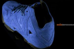LeBron 11 EXT Blue Suede Heel