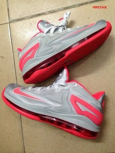 LeBron 11 Low Grey Red