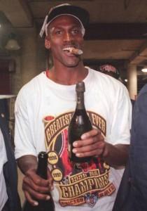 Michael Jordan Cigar and Champagne