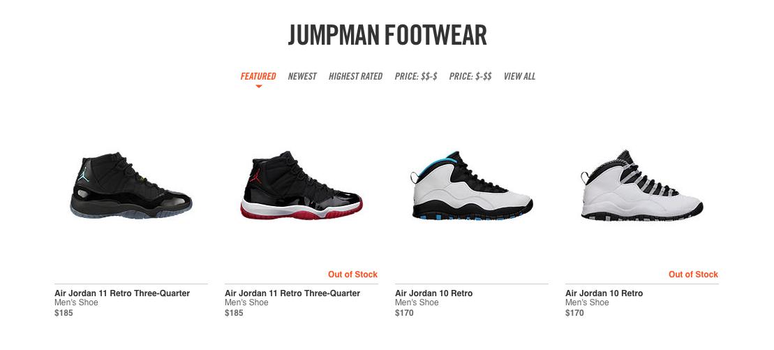 Nike randomly restocks Jordans