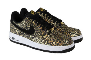Nike Air Force 1 Low Black Gold Elephant