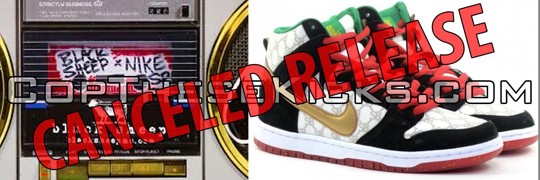 Black Sheep x Nike SB Dunk Gucci aka Paid In Full Pulled