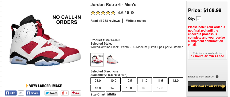Huge Jordan Restock on Eastbay