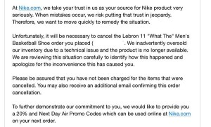 Nike What The LeBron WTL 11 Canceled orders