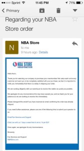 NBA Store What The LeBron 11 Delayed and Canceled Orders