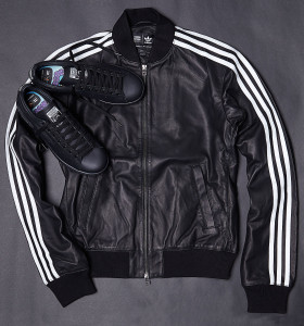 Adidas Consortium x Pharrell Williams SolidLeather Track Jacket and Stan Smith Black
