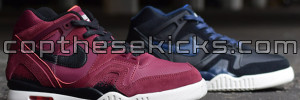 Nike Air Tech Challenge II Burgundy and Midnight Navy Ivory Pack