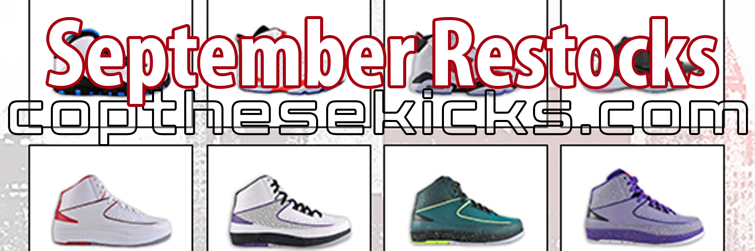 September Jordan Retro Outlet Restocks