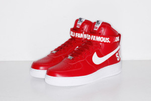Supreme x Nike Air Force 1 Red