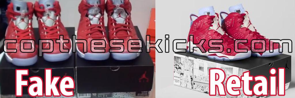 fake unauthorized replica authentic Air Jordan Retro 6 Slam Dunk Pack