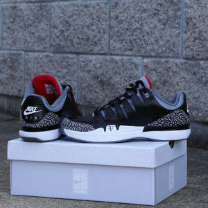 Nike Zoom Vapor Air Jordan Air Retro 3 AJ3 Black