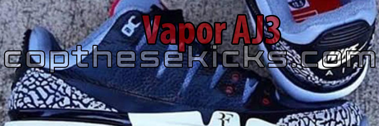 Nike Zoom Vapor x Air Jordan 3 Black Release