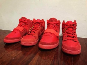 Nike Dunk High CMFT PRM Yeezy Red October