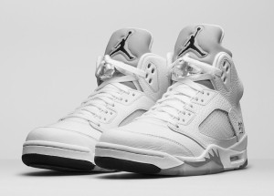 Air Jordan Retro 5 Metallic Silver