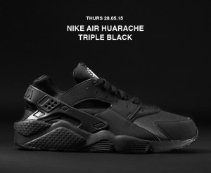 Nike Air Huarache Triple Black Restock