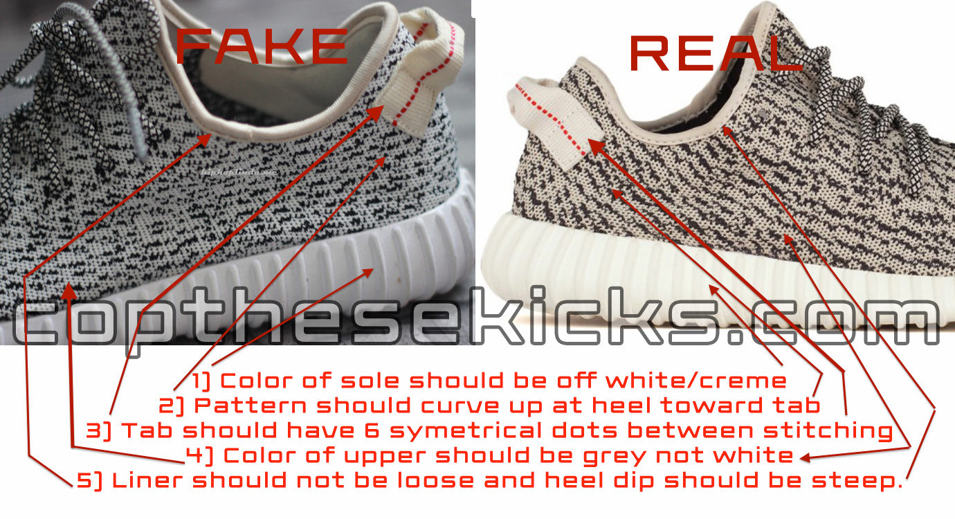 best quality 16104 6e9f9 Real Vs Fake Adidas Yeezy Boost 350 - Cop These Kicks