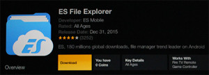 Go to the Amazon App Store and search for ES File Explorer then download it.