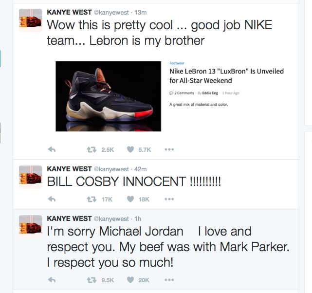 Kanye West's Twitter Hacked or Just Trolling?