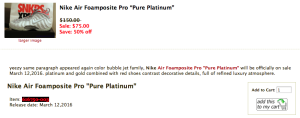 Fake Yeezy Foamposite Pure Platinum Replicas 616750-003