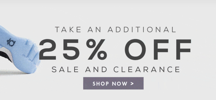 EXTRA 25% off Kicks and Clothing – 50% Off Fleece