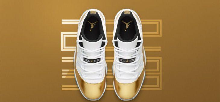 """a08e40092d0446 Jordan Retro 11 """"Gold Medal"""" Restock"""