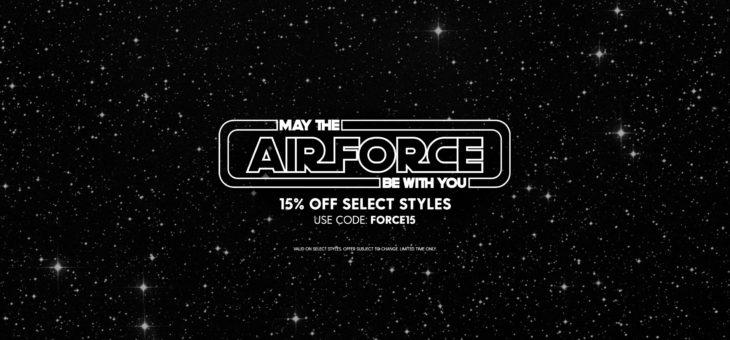 15% off Nike AF1 Star Wars Day Coupon