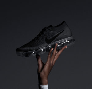 5173de2d28281 Nike is releasing it s VaporMax in a triple black colorway at select North  American retailers on Thursday June 22nd. The European release will follow  a week ...
