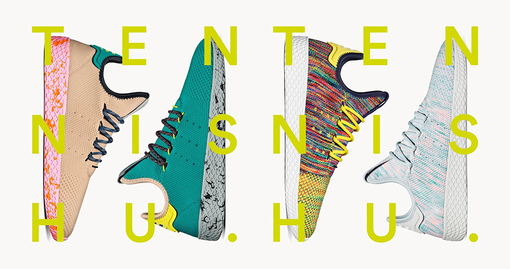 another chance 61745 5b189 Pharrell Williams x adidas Tennis Hu Multicolor Pack Release Details - Cop  These Kicks