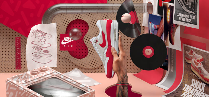 """Nike Air Max 1 OG """"Anniversary"""" University Red is only $128 Shipped"""