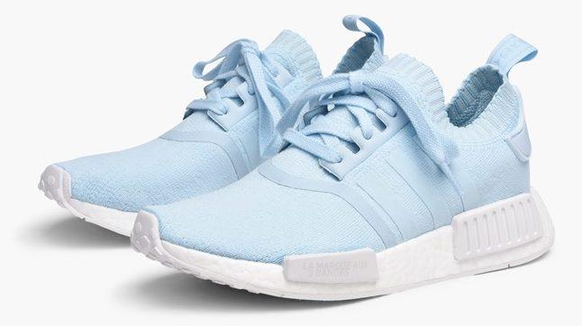 Adidas NMD R1 primeknit hielo azul y gris tres Release links CP