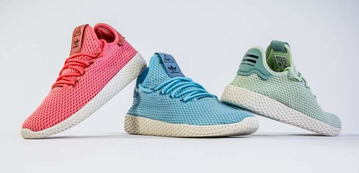 Pharrell Williams x adidas Tennis Hu GS sizes on sale for just $53
