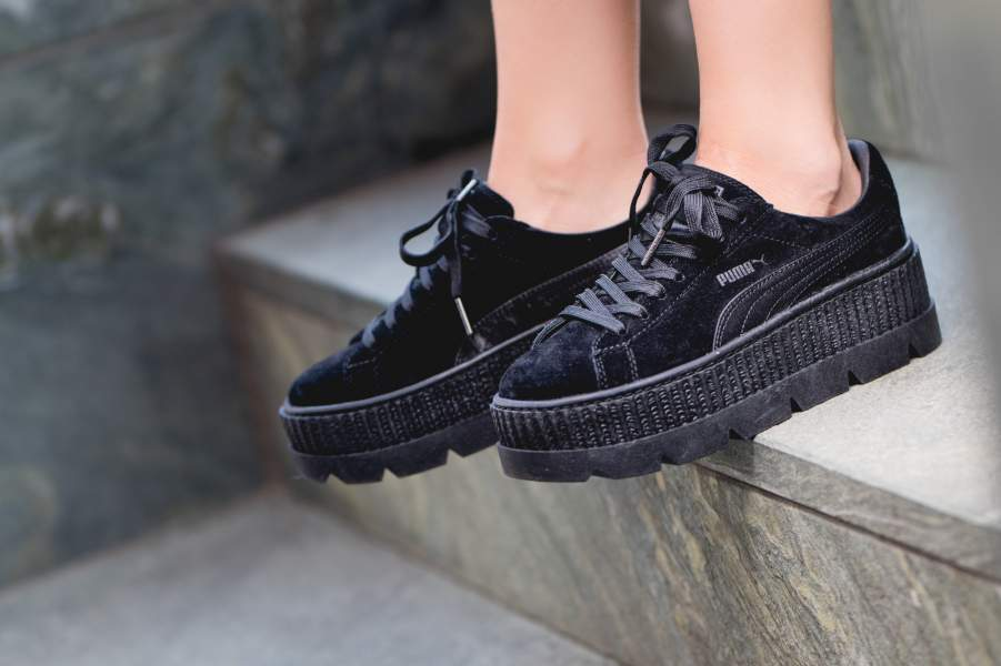 buy online 036e6 28b75 puma-x-fenty-wmns-cleated-creeper-suede-black-366268-04-mood ...