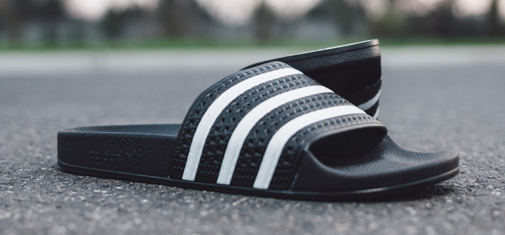 Men's Adidas Adilette Woven Slides on sale for $19.98 (retail $45)