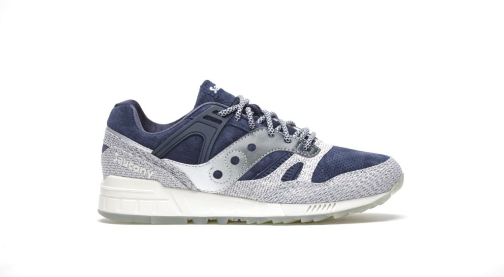 afew store sneaker saucony grid sd dirty snow ii grey navy