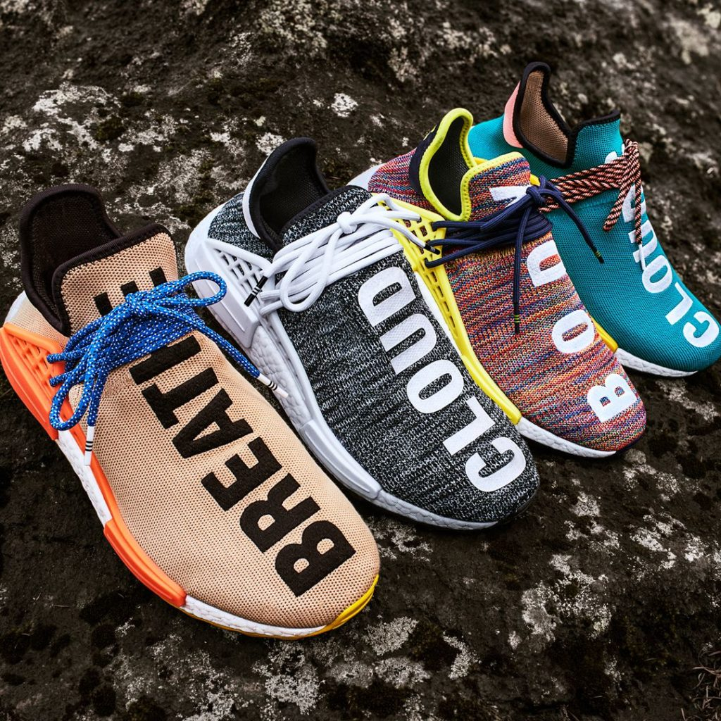 "290dd9ba0 Pharrell Williams signature Human Race NMD s (dubbed ""Hu"") are some of the  most coveted kicks"