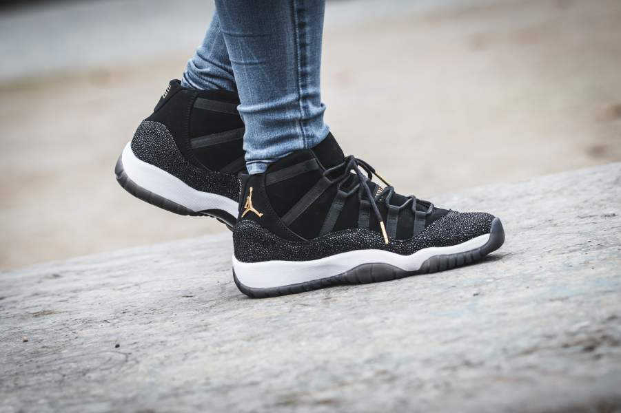 """This year Jordan is dropping an Retro 11 """"Heiress"""" in black and gold with  stingray leather. 91550d988c01"""